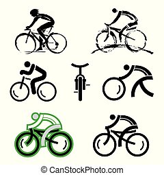 vélo, icons.