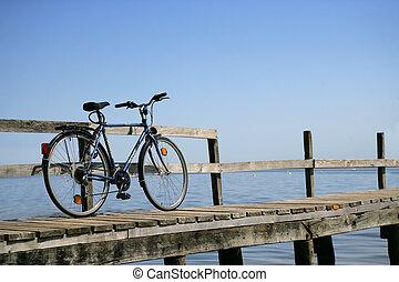 vélo, jetée