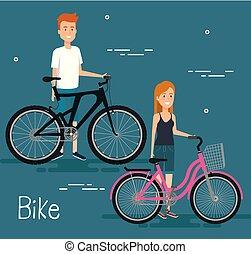 vélo, jeunes