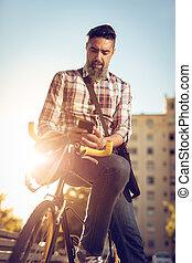vélo, jour, fonctionnement