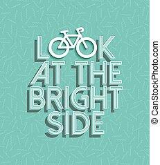 vélo, motivation, vélo, positif, retro, concept