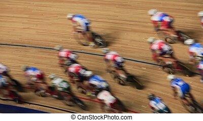 vélo, mouvement brouillé, s, course, vitesse