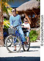 vélo, père, fils