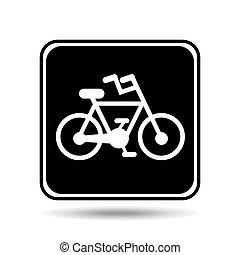vélo, parcours, signe, graphique