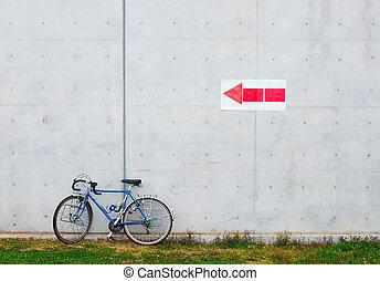 vélo, penchement mur