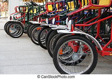 vélo, rang