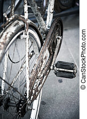 vélo, rouillé, closeup, vieux
