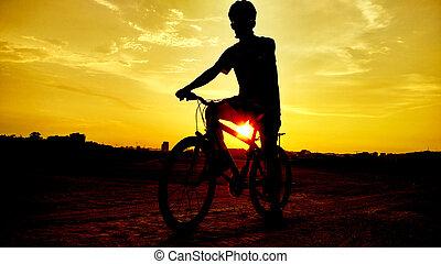 vélo route, cycliste