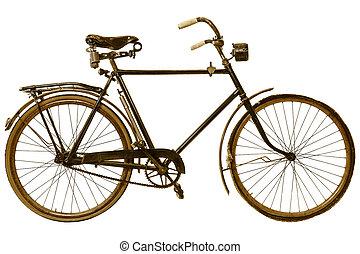 vélo, siècle, image, retro, appelé, dix-neuvième