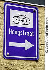 vélo, signe flèche