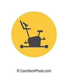 vélo, silhouette, exercice, icône