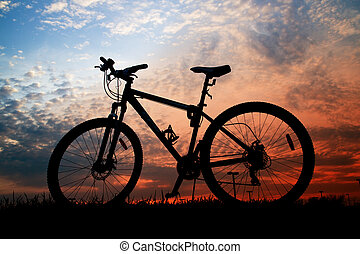 vélo, silhouette