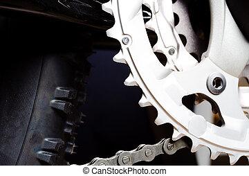 vélo tout terrain, engrenage, pneu