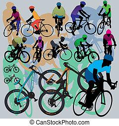 vélo tout terrain, ensemble