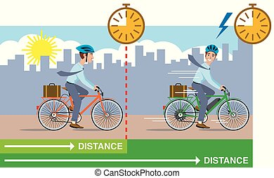 vélo, vs., régulier, e-bike