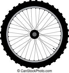 vélo, wheel.