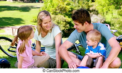 vélos, famille, séance