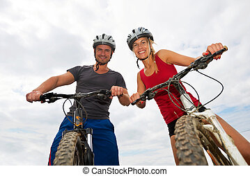 vélos, gens