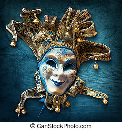 vénitien, résumé, masque, fond