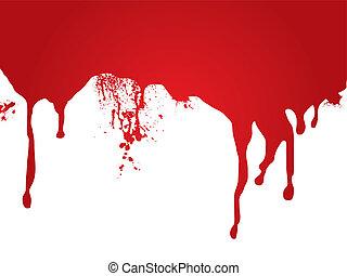 vér, folyik