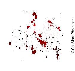 vér, locsogás