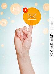 vérifiant courrier électronique, inbox