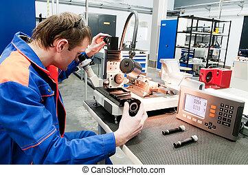 vérification, appareil, outillage, optique, ouvrier