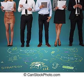 vérification, argent, compagnie, gens