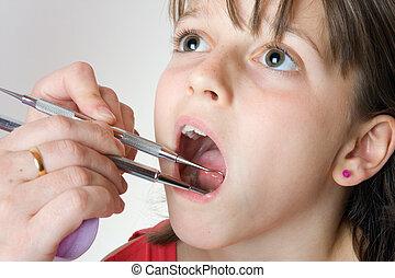 vérification, dents