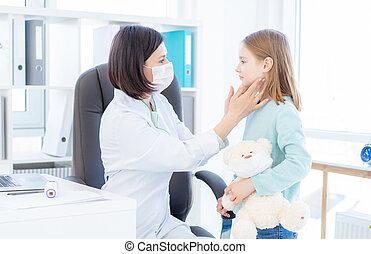 vérification, doc., noeuds, lymphe