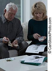 vérification, les, factures