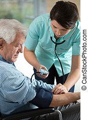 vérification, les, hypertension