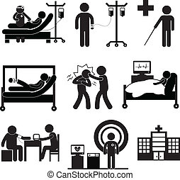 vérification, monde médical, dans, hôpital