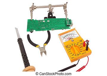 vérification, multi-meter, circuit