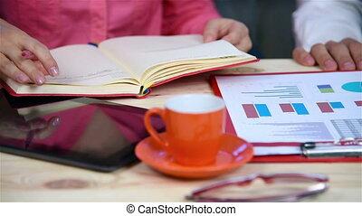 vérification, rapport financier, ouvrier, co