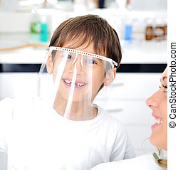 vérification, série, apparenté, photos, dentiste, dents