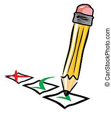 vérification, stylo