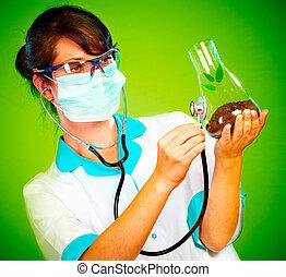 vérification, vie, scientifique, santé