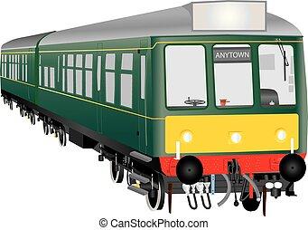 vétéran, diesel, train