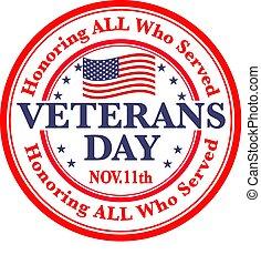 vétérans, signe, jour