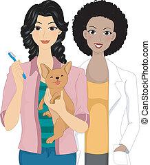 vétérinaire, dentaire, chèque