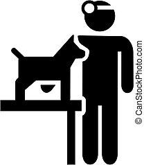 vétérinaire, icône chien