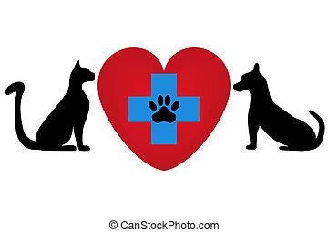 vétérinaire, symbole