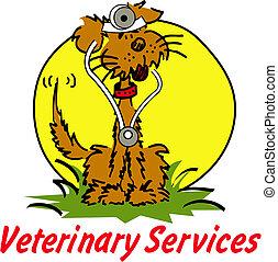vétérinaire, vétérinaire, chien, clipart