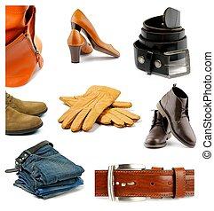 vêtements, chaussures, collection, accessoires
