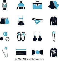 vêtements, ensemble, icônes