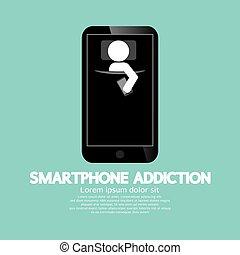 vício, smartphone, concept.