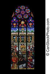 vídeň, votiv, eucharistic, barometr, poskvrnil, kongres, zaslíbený, rakousko, church), kirche, (the