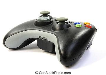vídeo, controlador, juegos