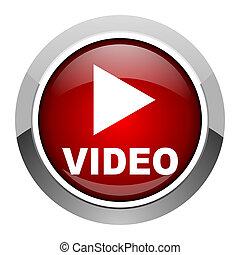 vídeo, icono